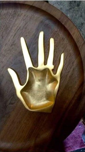 Hands on Tray * Karen Chekerdjian